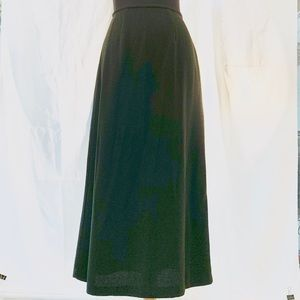 Bob Mackie long olive green skirt.